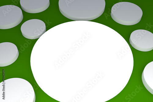 3d blank abstract white button