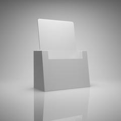 Blank brochure holder