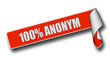 Band Sticker rot rore II 100% ANONYM