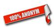 Band Sticker rot rore II 100% ANONYM