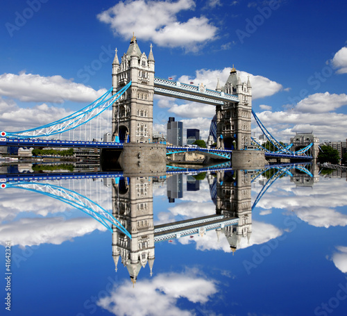 Famous Tower Bridge in London, England - 41642324