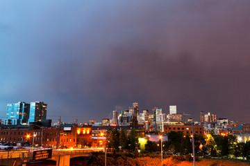 Denver Colorado Skyline at Dusk