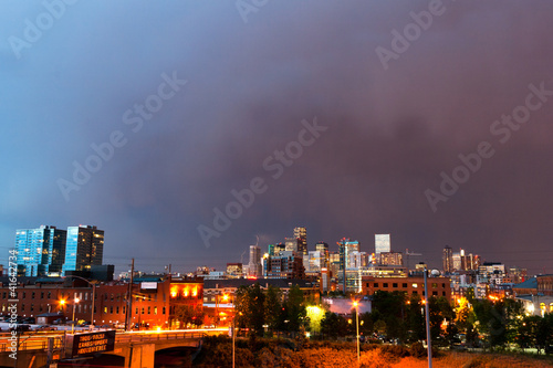 Denver Colorado Skyline at Dusk