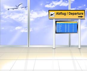 Flughafen - Abflug