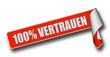Band Sticker rot rore II 100% VERTRAUEN