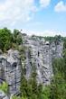 Blick von der Bastei im Elbsandsteingebirge