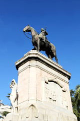 Statue von Artigas in Montevideo