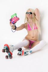 Rollergirl mit Pola
