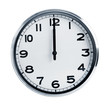 Wall office clock showing at noon