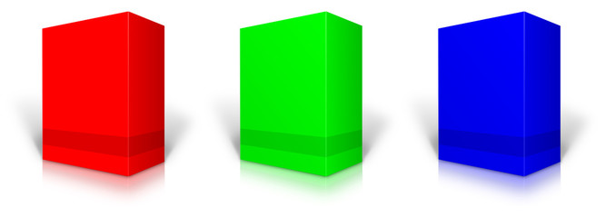 RGB blank retail product package