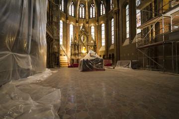 interno della chiesa di s. mattia, budapest