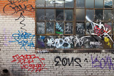 Fototapety Grungy Alley With Graffiti In Denver