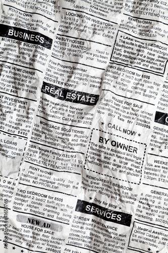 Crumpled Newspaper
