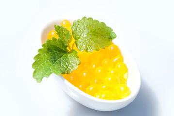 Bubble Tea Perlen gelb - Mango, Orange, Maracuja
