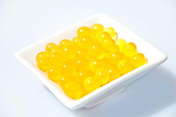 Bubble Tea fruchtig gelb  - Mango, Orange, Maracuja, Limette