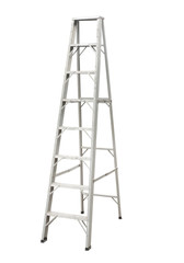 Aluminium stepladder isolated on white background