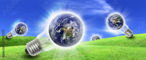 Bulb energy farm produce electric power to the world