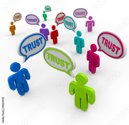 Trust People Speech Bubbles Loyalty Confidence