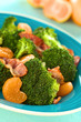 Fresh homemade broccoli, mandarin and bacon salad
