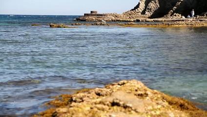 playa y espigon