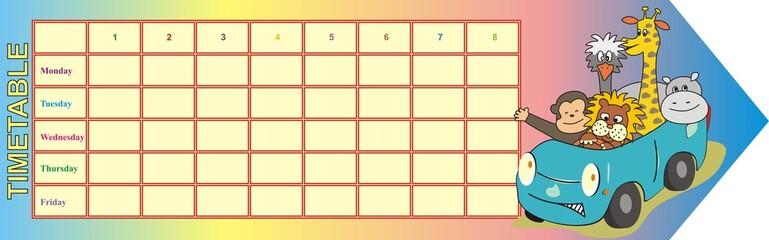 timetable - animal