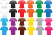 male shirts template in many colors