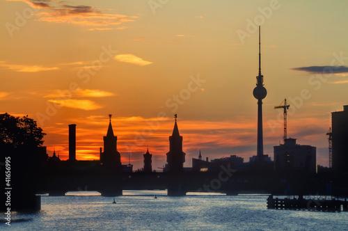 Fototapeten,berlin,abend,sonne,fernsehturm