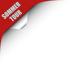 Seitenecke rot links SOMMER TOUR