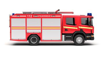 Einsatzfahrzeug der Feuerwehr (Seitenansicht)