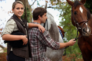 Teens with horses