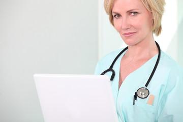 Portrait of female doctor