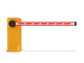 Barrier Gate isolated on white background