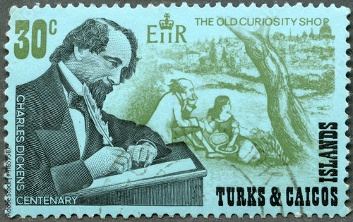 TURKS AND CAICOS ISLANDS - 1970 : shows Charles Dickens