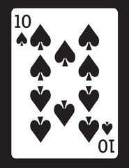 Ten of Spades! Vector eps 8