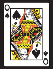Queen of Spades! Vector eps 8