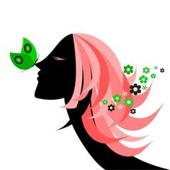 Profilo con farfalla