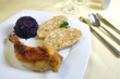 Czech chicken with Carlsbad dumplings, czech cuisine