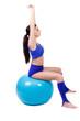 dehnübung auf dem gymnastikball