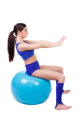 sport auf dem gymnastikball