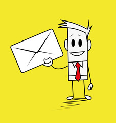 Square guy-letter