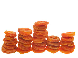 The bars of dried apricots.