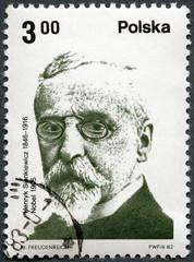 POLAND-1982: shows Polish Nobel Prize Winner: Henryk Sienkiewicz