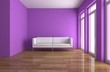 Wohndesign - lila Raum