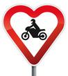 Schild Biker Herz