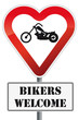 Schild Bikers Welcome