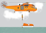 Search and Rescue Helicopter and lifeboat