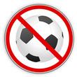 Verbotsschild- Fußball