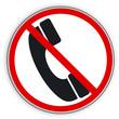 Verbotsschild- Telefon