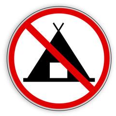 Verbotsschild- kein Camping