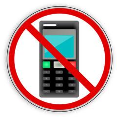 Verbotsschild- Telefon-Handy